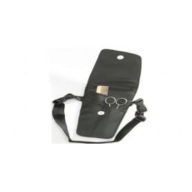 Cartuchera cinturon para tijeras peine navaja con tapa