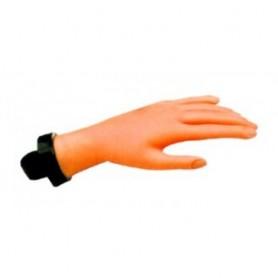 Mano para prácticas manicura y uñas