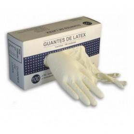 Guantes latex caja de 100 unidades