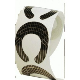 Moldes ovales para uñas esculpidas de 50 unidades