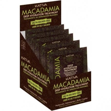 Kativa Macadamia mascarilla hidratante 12 sobres x 35 gramos