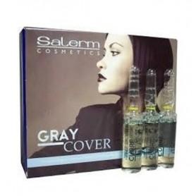 Salerm cosmetics gray cover cubre canas 12 ampollas