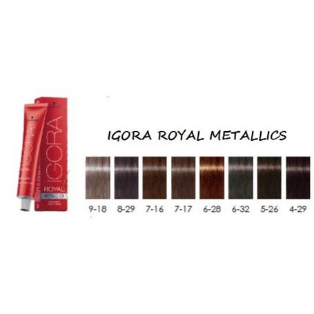 Schwarzkopf igora royal coloración tinte