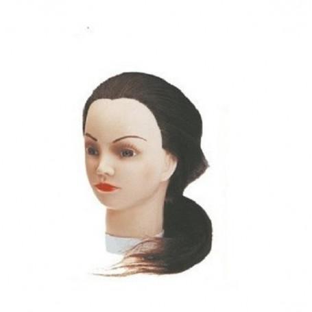 Maniquí de cabello natural largo