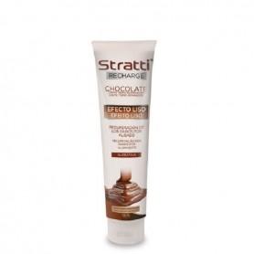Stratti carga de keratina chocolate efecto liso 150ml