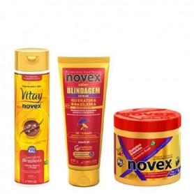 Pack mantenimiento novex queratina brasileña 3 productos