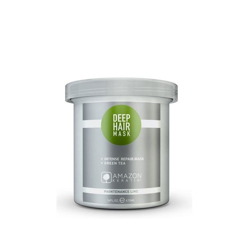 Amazon Keratin mascarilla te verde hidratación intensa 473ml