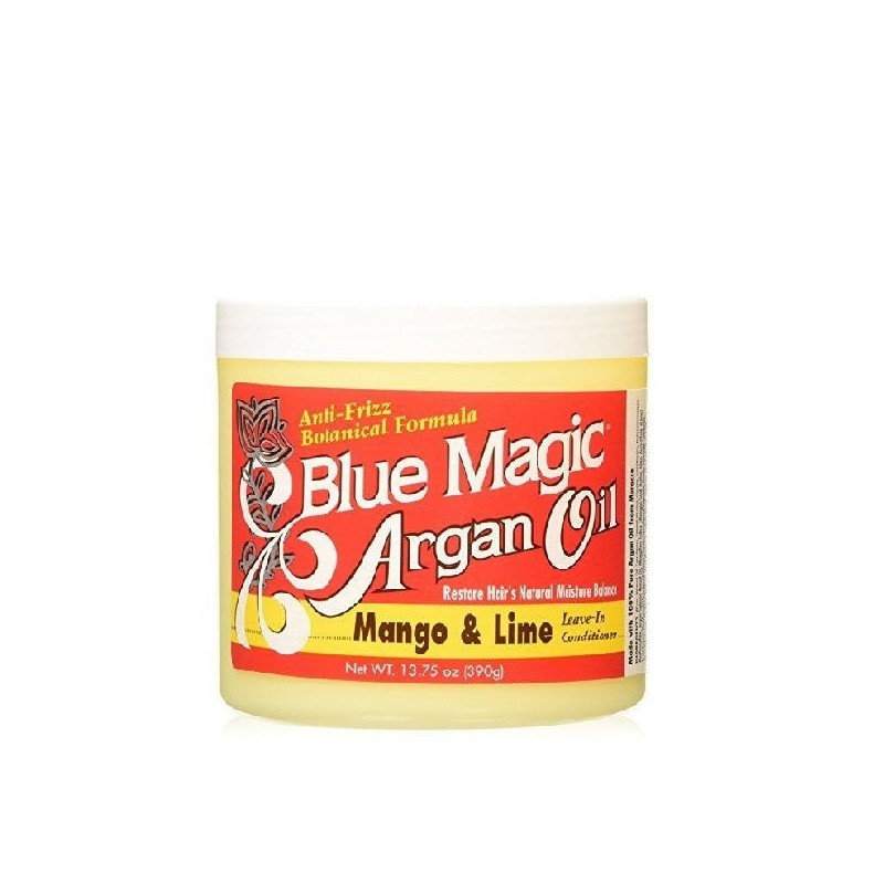Blue magic aceite argan lima y mango leave in 390 gr