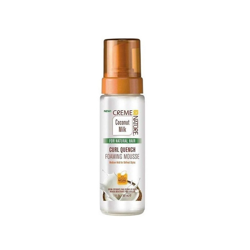 Creme of nature coconut oil quench espuma rizos 207ml