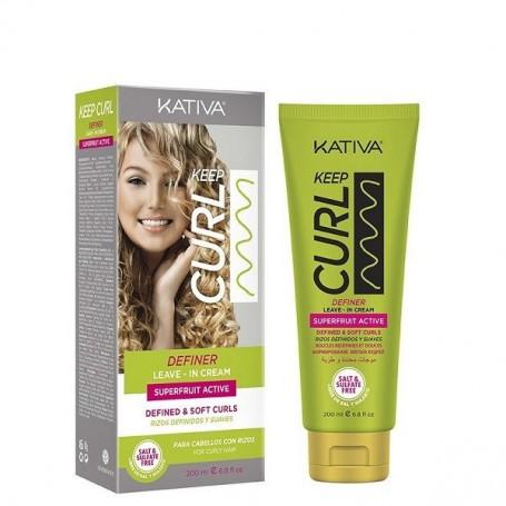 Kativa Keep Curl definer crema sin aclarado 200ml