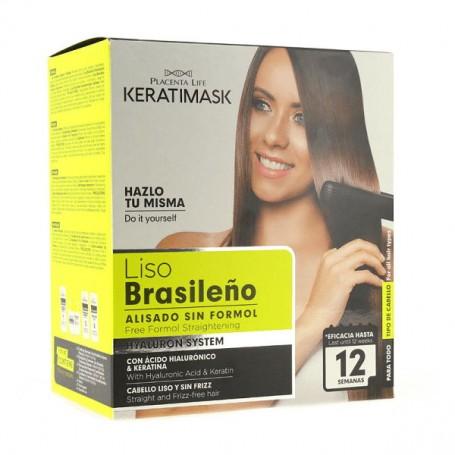 Keratimask kit alisador liso brasileño